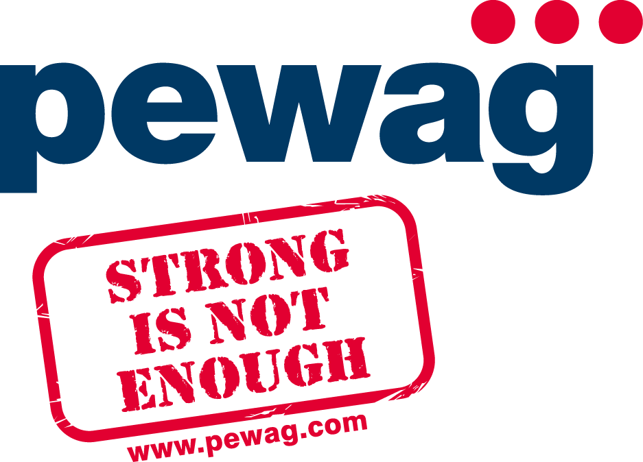 Logo pewag strong is not enough 4c